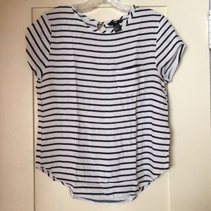 H&M Striped White Black Blouse